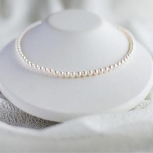 ベビーパール5㎜珠艶々ネックレス【あこや真珠】NKKS-1318