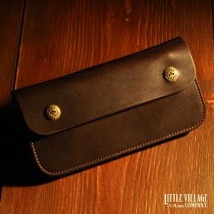 """Original Truckers' Wallet """"Long"""" w/ Brass Buttons : Brown"""