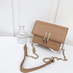 4color : Clear pvc compact chain bag