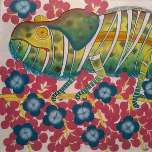 『 Chameleon 』Big-Tingatinga by Zuberi 53*71