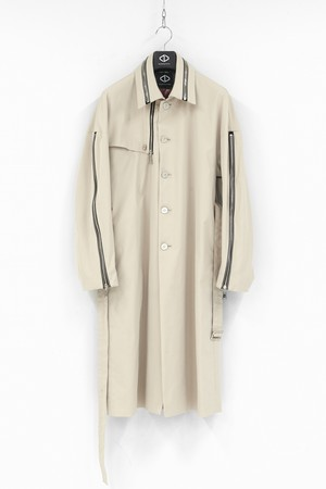 Zip GunFlap Trench Coat / Beige [20-21AW COLLECTION]