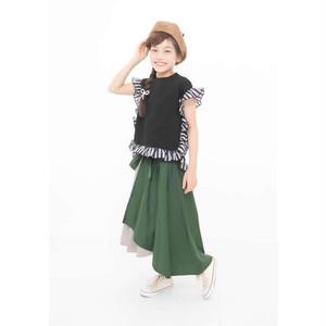 【UNICA】211-1561 スクエアフリルTシャツ 100-140㎝