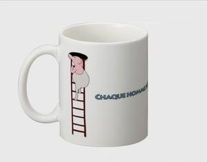 マグカップ Monsieur différente ハシゴ(A)