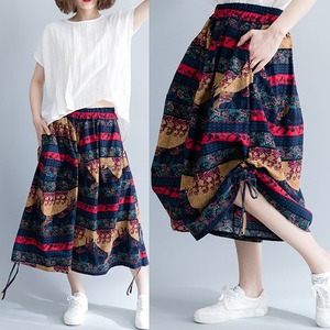 大きいサイズ レディース 裾シャーリングスカーチョA 春夏