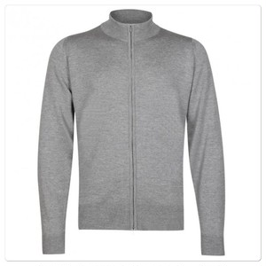 John Smedley Claygate Full Zip Jacket L/S Silver Gray