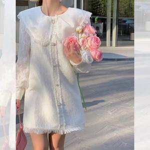 all white tweed dress