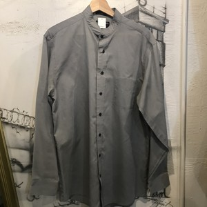 cotton polyester stand collar shirt