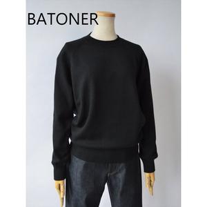 BATONER/バトナー ・Aging cotton crew neck
