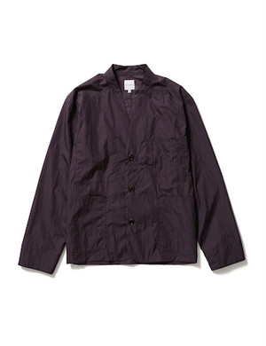 NYLON WA-NECK COVERALL -BLACK BERRY- / Sasquatchfabrix.