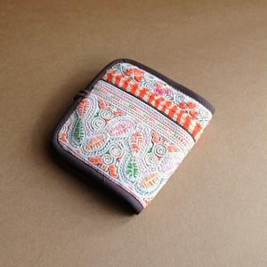 モン族 古布二つ折り財布 A