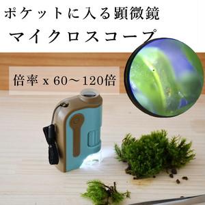【コケ観察用】ポケットマイクロスコープ 120ズーム