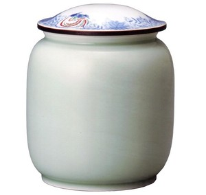 深川製磁 やすらぎの壺 6寸 竜鳳凰唐草