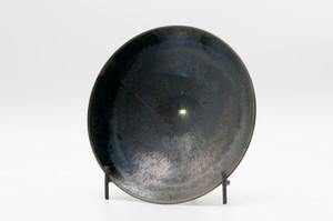 鉄黒釉六寸浅鉢