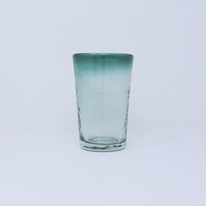 ガラス工房清天 ノーマルグラス 大 グリーン 琉球ガラス