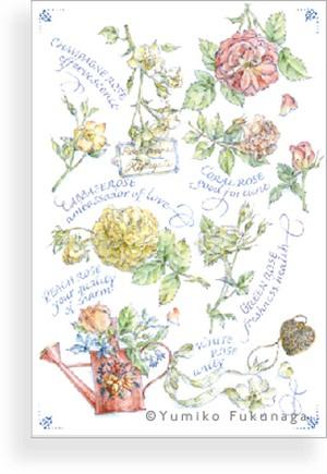Post card(petit roses)