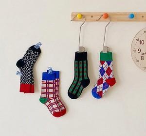«予約» check socks 4set チェックソックス