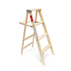 "Wood Step Ladder ""Size 4"" [送料無料]"