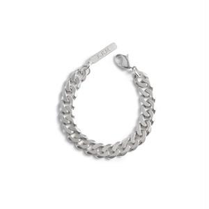 Cut chain silver bracelet