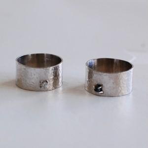 ダイヤモンド原石シルバーリング [01296] [01302]