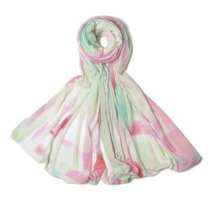 marumasu PARALLEL [pink×lightgreen] テンセル80%シルク10%カシミヤ10%