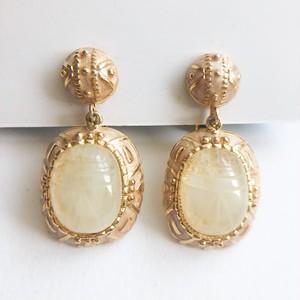 scarab dangle earring[e-1269] ヴィンテージイヤリング