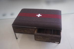 品番UEMW-117  2drawer ottoman[wide/European military blanket]