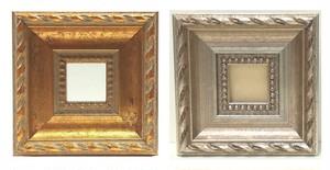 額縁おしゃれアンティークフレーム正方形B-20047ゴールド/B-20086シルバー窓枠サイズ15mm×15mm/2mmアクリル裏板付壁掛け