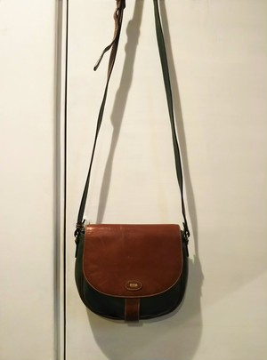 BALLY  PVC round shoulder bag /Made In Italy [B-469]