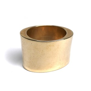 Bronze Wide Cigar Band Ring by Marion Cage