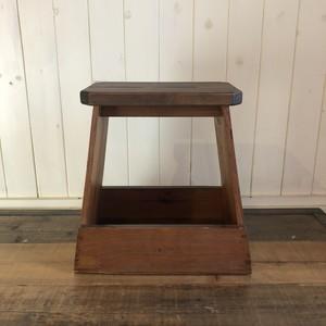 木製踏み台|スツール|リメイク|昭和家具