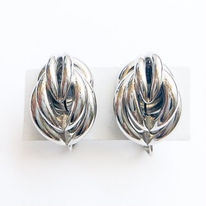 silver design earring[e-1050]