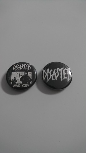 DISASTERディザスター/缶バッジ(25mm)2個セット