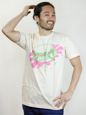 Hamburger T-shirt Cream
