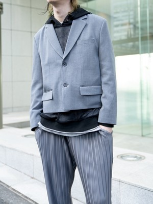 【MENS - 2 size】SHORT TAILORED JACKET / 2colors