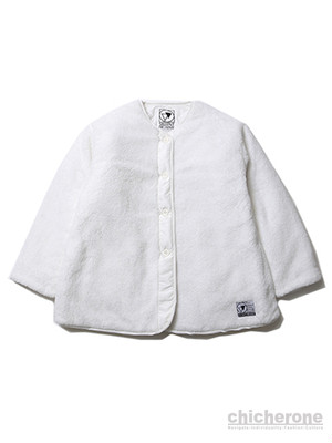 【SILLENT FROM ME】GEMINAL -Reversible Boa Jacket-WHITE