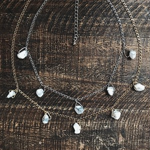 White howlite  choker necklace