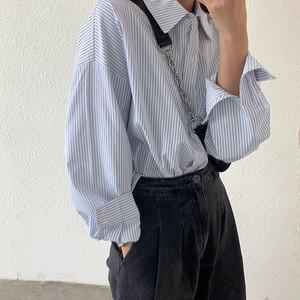 ルーズストライプシャツ