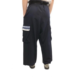 Y'S FRILL DESIGN CARGO SAROUEL TROUSERS