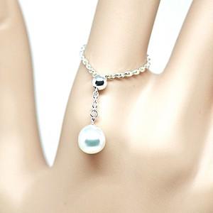 人魚の涙(あこや本真珠)のチェーンリングD フリーサイズ