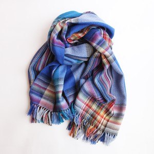 THE INOUE BROTHERS/Multi Coloured Scarf/Blue