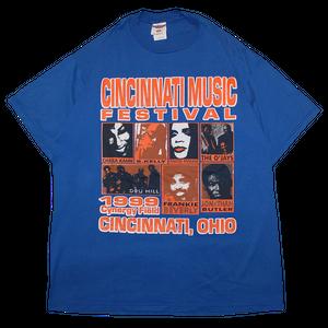 """""""Cincinnati Music Festival 1999"""" Vintage Fes Tee Used"""