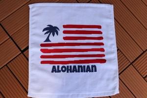 93050 FLAG LOGO ハンドタオル