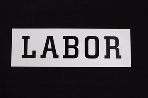 LABOR LOGO STICKER WHITE