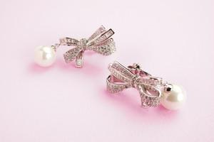 Ruban Pearl ( Pierce / Earrings )