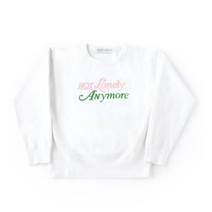Not Lonely Anymore Crew Sweat shirt White