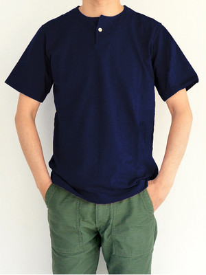 Jackman ジャックマンJM5713 Henley neck T-shirt #Navy