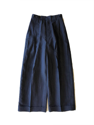 Linen wide pants Black / Luxluft