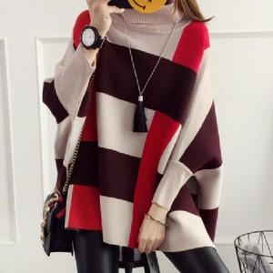 【トップス】一目惚れファッション配色カットソー/セーター16825530