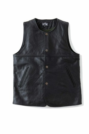 "DRESS HIPPY(ドレスヒッピー) /   ""JERKIN LEATHER VEST"""