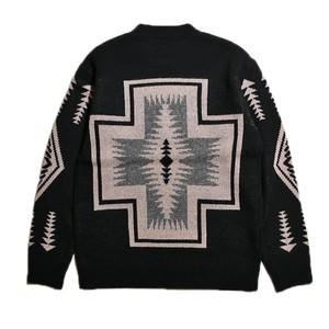 PENDLETON Crew Neck Pullover Knit ペンドルトン クルーネック プルオーバー ニット - Hading -(ブラック)【MN-0575-2000】